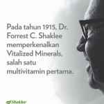 Shaklee Bertam :Siapa Dr. Forrest C Shaklee?