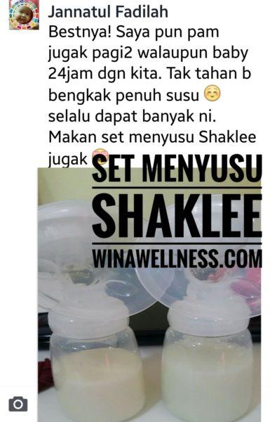 Testimoni Set Menyusu Shaklee